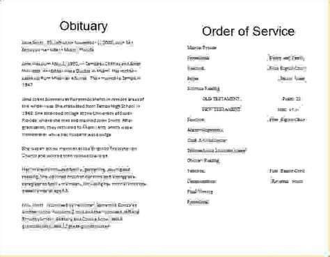 14 obituary template freeagenda template sle agenda