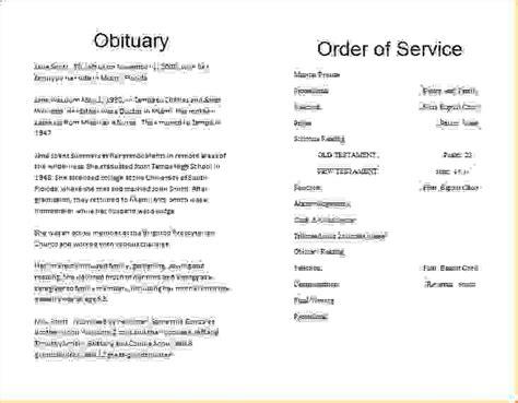 free funeral obituary template 14 obituary template freeagenda template sle agenda