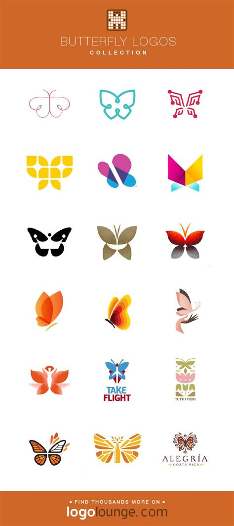 logo collection butterfly vector logo designs wings