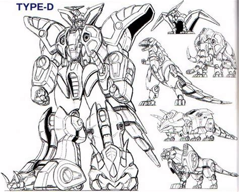 mega zords colouring pages