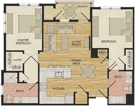 apartment floor planner 2 bedroom apartments flats 520 north haven ct