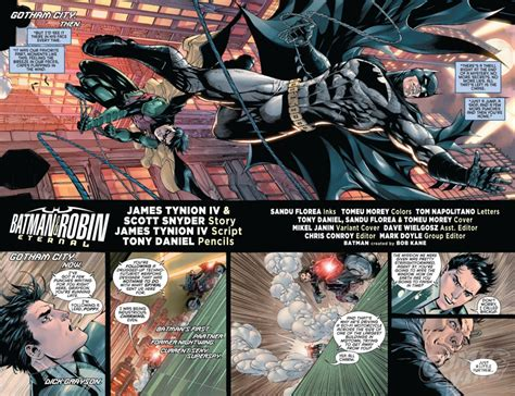 batman and robin eternal batman robin eternal 1 spoilers dc comics 75th anniversary of robin s debut begins with the