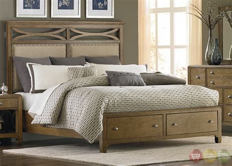 town and country bedrooms town and country distressed finish storage bedroom set