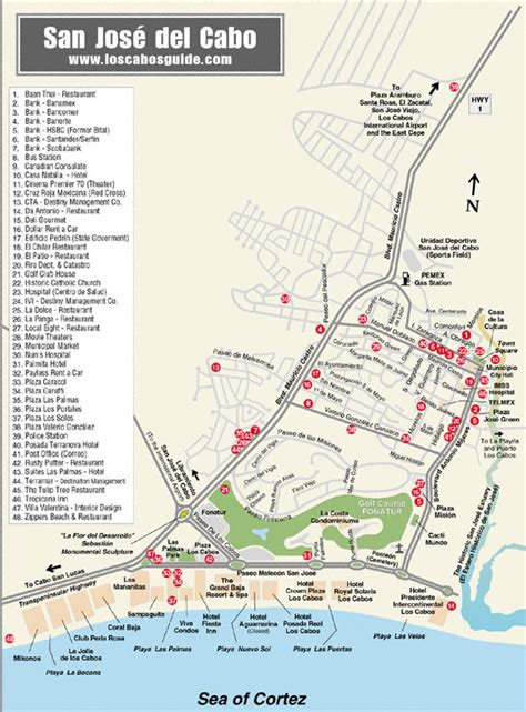 san jose map hotels san jose cabo hotel map