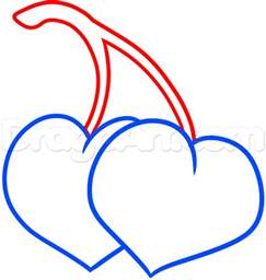 Drawing Hearts draw cherry hearts step by step drawing sheets added by