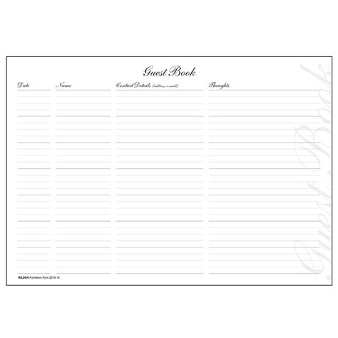 guest book layout design visitor appointment books