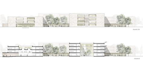 layout design inspiration architektur ansicht ost und schnitt b 169 sehw architektur