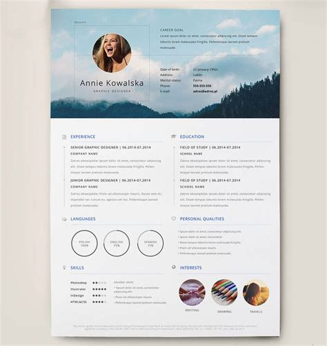 free modern resume template docx best free clean resume templates in psd ai and word docx