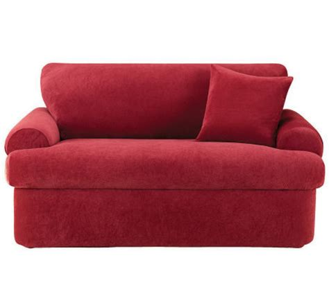 sure fit stretch pique 3 piece t cushion sofa sure fit stretch pique 3 piece t cushion love seat