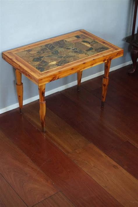 Coffee And End Tables Canada Vintage Design Canadian Juniper And Rock Coffee Or End Table With Makers Name For Sale At