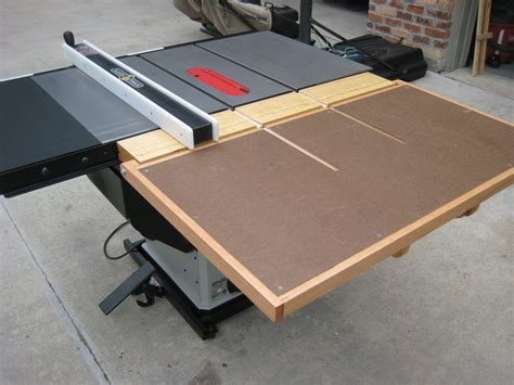 table saw outfeed table outfeed table by tim gates lumberjocks