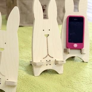 Ring Stand Handphone 1 free shipping by ems rabbit cellphone holder wooden