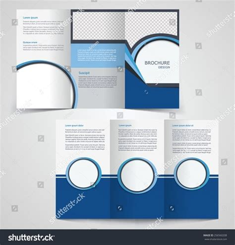 two sided brochure template trifold business brochure template twosided template stock