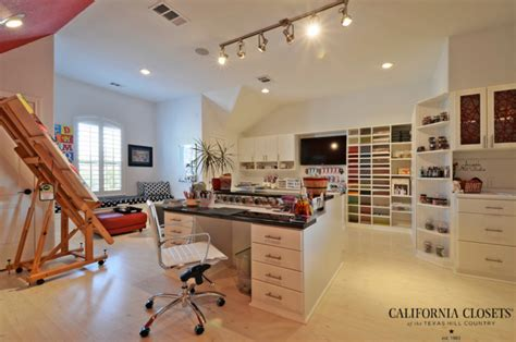 art and craft studio high class craft studio eclectic home office austin