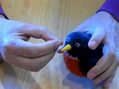 How To Make A Bird Beak Out Of Paper - how to make a clay beak for your woolly bird