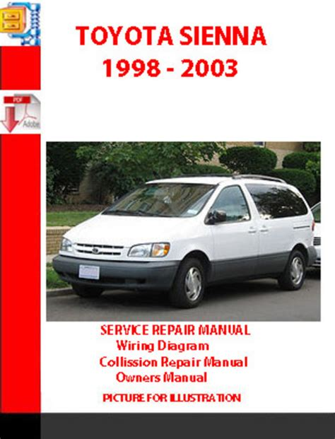 vehicle repair manual 2001 toyota sienna parking system service manual car owners manuals for sale 1999 toyota sienna parking system service manual