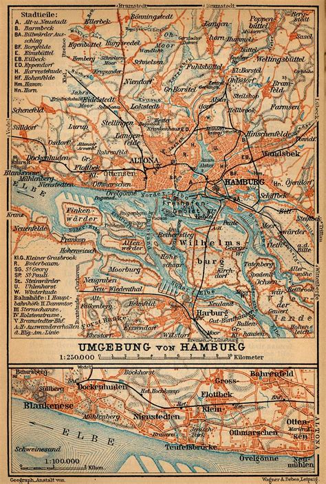 map northern germany baedeker s northern germany perry casta 241 eda map