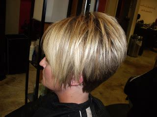 high back bob style them fabulous high layered a line with tapered back