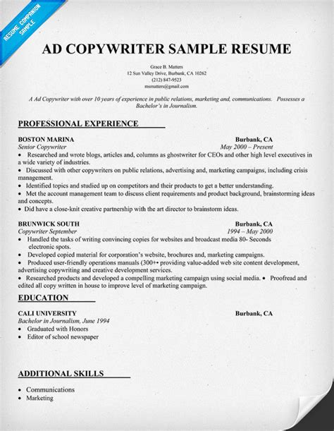 copywriter resume template automotive writer resume 2017 2018 best cars reviews