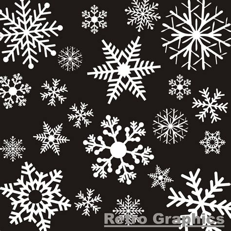 26 large white reusable christmas snowflake window