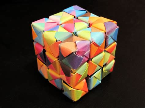 How To Make A Paper Moving Cube - spotlight on origami noticeboard social