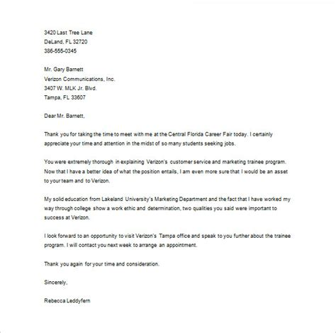 Follow Up Letter After Career Fair Follow Up Cover Letter After Career Fair Adriangatton