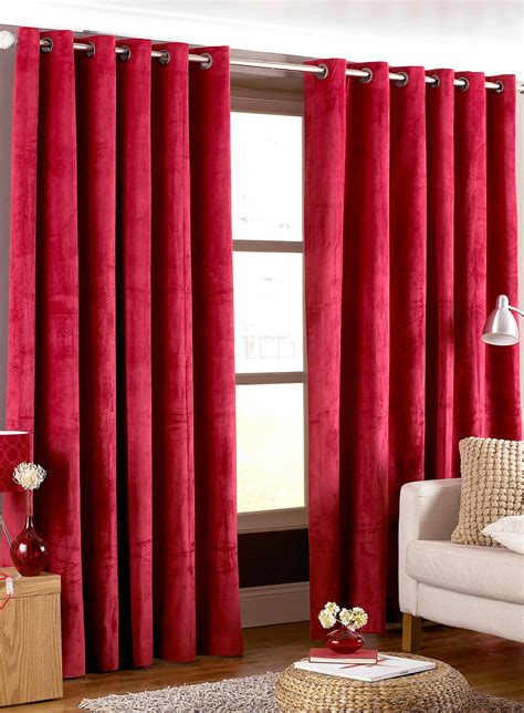 draperies for living room glamorous red curtains for living room ideas long red