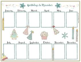 family birthday calendar template free birthday calendar