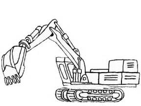 Coloring Page To Print Out – Car Pages Excavator sketch template