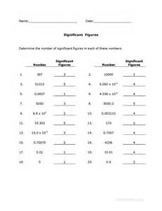 significant figures worksheet page 2 of 2