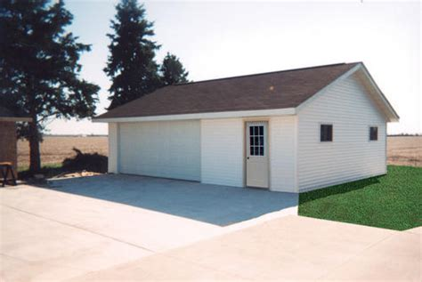 Two Car Garage With Workshop by 26 X 30 X 8 2 Car Garage With Workshop At Menards 174