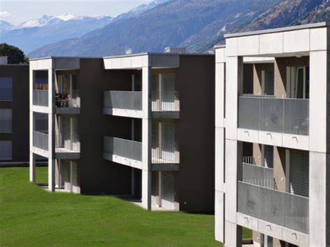 Wohnung Einrichtungsideen 3650 by 220 Berbauung Visp West Schweizer Baudokumentation