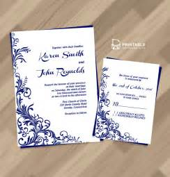 Borders For Invitations Template by 2016 Foliage Borders Invitation And Rsvp Wedding Templates