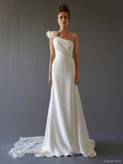 One Shoulder Wedding Dress by Cocoe Voci Wedding Dresses Fall 2012 Wedding Inspirasi