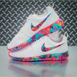 colorful nike running shoes shoes roshe runs colorful multicolor white nike