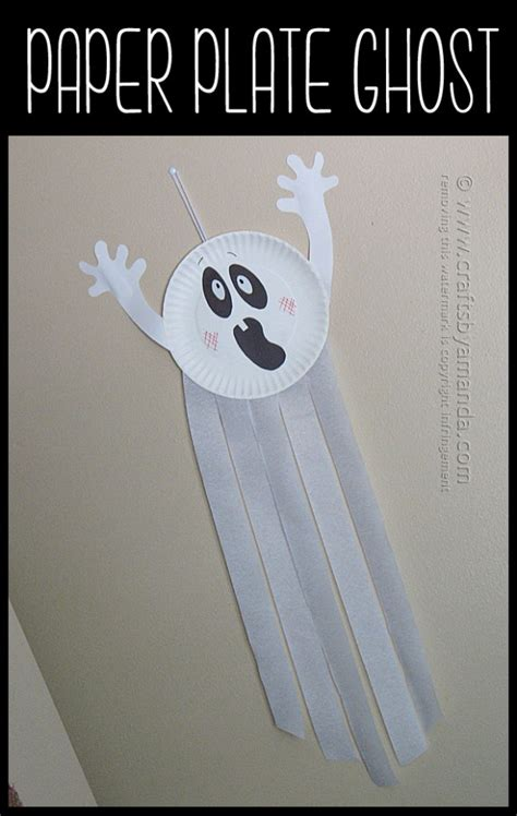 How To Make Paper Ghost For - paper plate ghost crafts by amanda