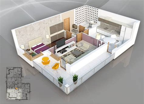 bedroom apartment plans  singles  couples