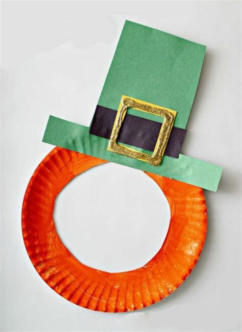 Mask With Paper Plates - st s day leprechaun paper plate mask craft for