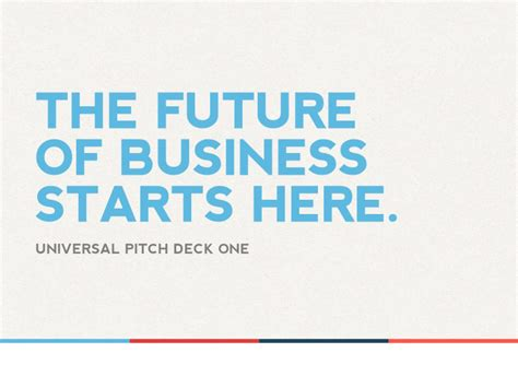 business pitch powerpoint template universal pitch deck one powerpoint presentation