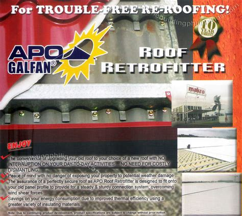 Retrofit Roof; Roofing Retrofitter Philippines