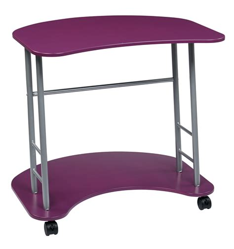 computer desk in purple finish ergoback