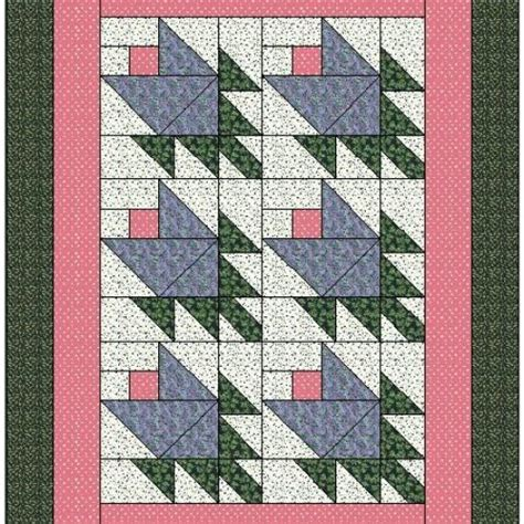 Traditional Quilt Block Patterns by All Stitches Tulip Paper Piecing Quilt Block Pattern