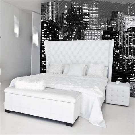 skyline wallpaper bedroom new york skyline modern bedroom other metro by