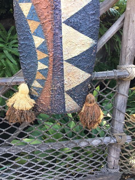 adventureland shields  tassels tiki room tiki crafts