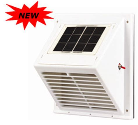 solar powered exhaust fan shed solar wall fan with rechargeable battery from solatron