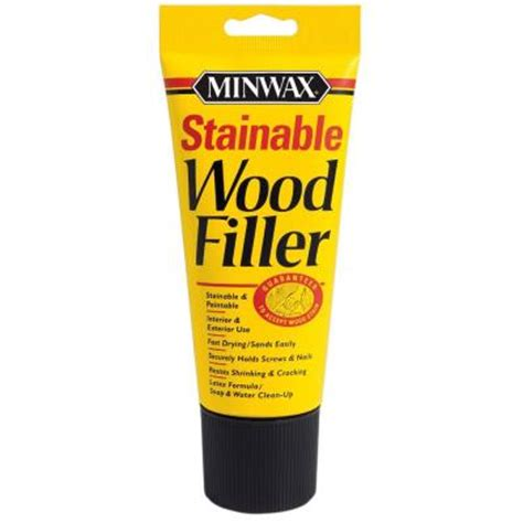 minwax 6 oz stainable wood filler 42852 the home depot