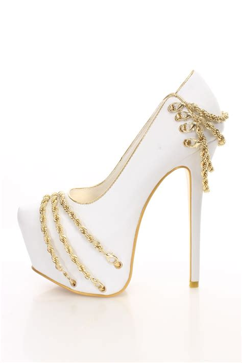 white and gold white and gold heels and pumps