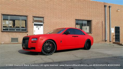 roll royce red project rolls royce ghost wrapped in matte red by dbx