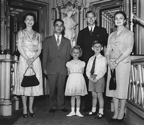 the royal family the royal family posed with king hussein of jordan and his
