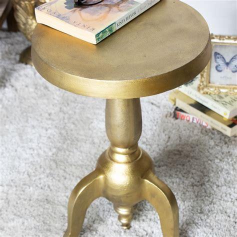 vintage gold side table vintage distressed vintage gold pedestal side table